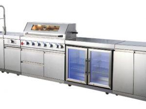 """מטבח חצר יוקרתי ואיכותי עשוי נירוסטה 304 ושיש גרניט / מק""""ט – WST-001-5-2"""