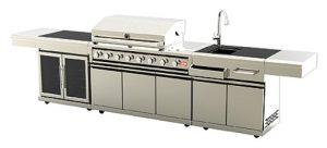 """מטבח יוקרתי ואיכותי עם שיש גרניט שחור ונירוסטה 304 / מק""""ט – SG0008B-G"""