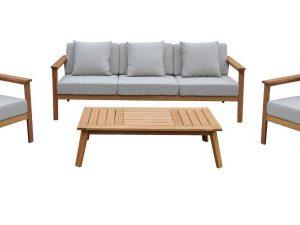 0714 מערכת ישיבה מעץ Tel Aviv