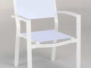 ריהוט גן כסא אלומיניום דגם MYKONOS
