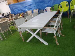 0422 שולחן נפתח X ללא כיסאות 216-300