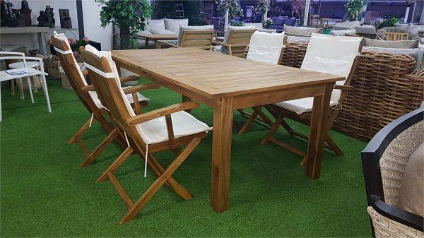 0451 Verona שולחן עץ מלא