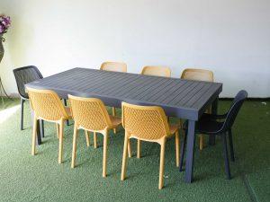 0424 שולחן 100 % אלומיניום 200-320